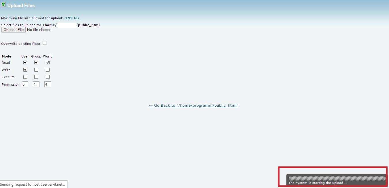 نصب وردپرس - آپلود فایل