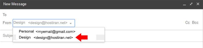 .نحوه اتصال ایمیل شخصی به gmail