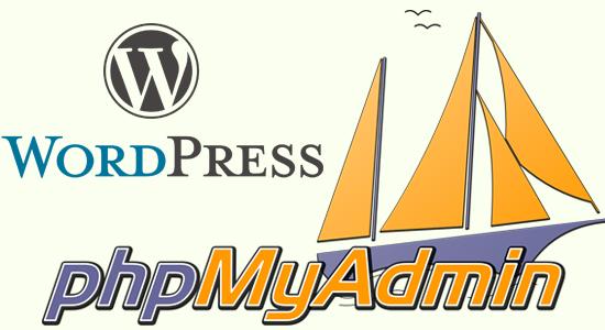 مدیریت پایگاه داده وردپرس به وسیله PhpMyAdmin